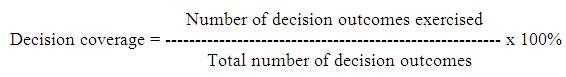 decision coverage formula